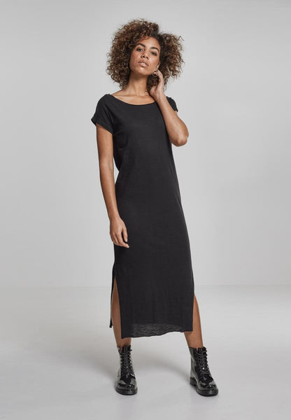 Ladies Slub Long Dress