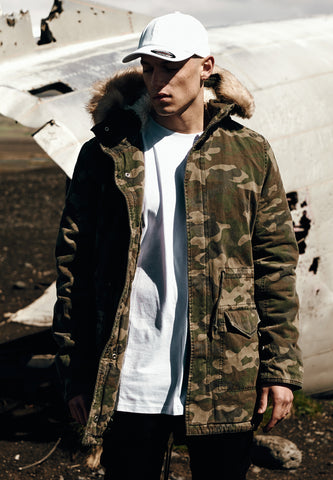 Garment Washed Camo Parka