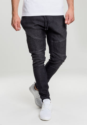 Biker Denim Jogpants