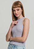 Ladies Rib Turtleneck Cropped Top