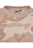 Ladies Camo Volant Crew Dress