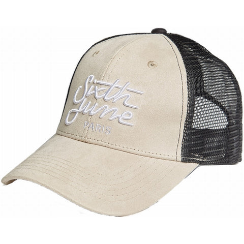 Embroidered Suedette Cap