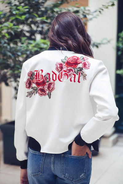 Embroidered jacket roses Bad Gal