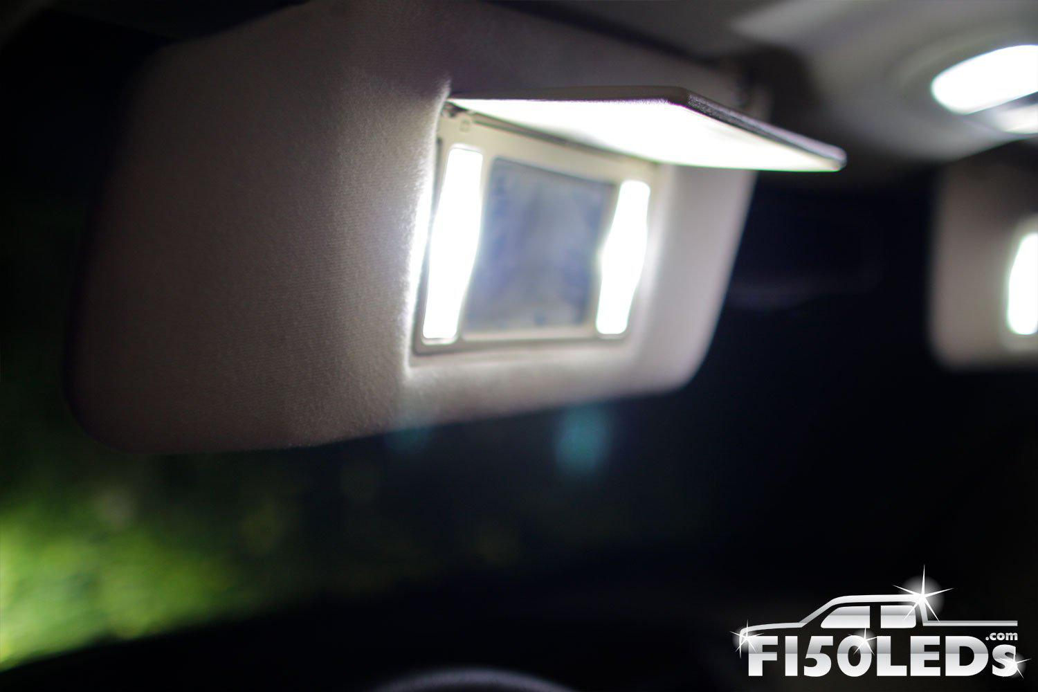 2010-14 F150 RAPTOR LED Vanity Mirror LED Lights-2010-14 F150 RAPTOR LEDS-F150LEDs.com