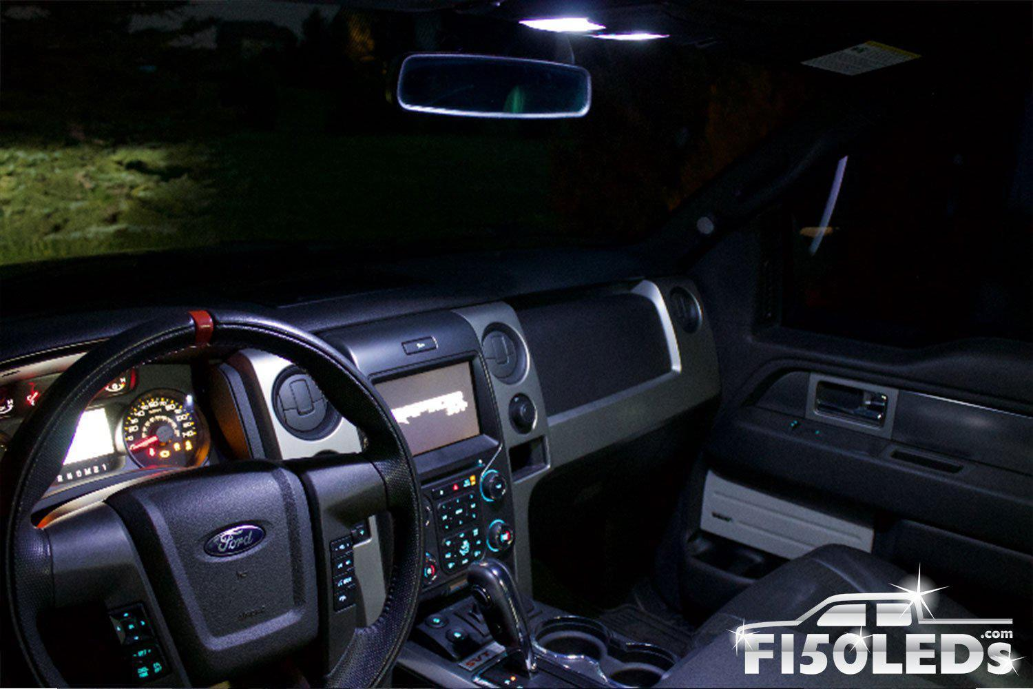 2010-14 F150 RAPTOR LEDS Front Interior Light Kit-2010-14 F150 RAPTOR LEDS-F150LEDs.com