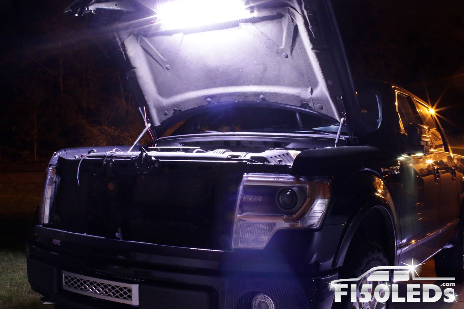 2010-14 Raptor F150 LED Automatic Engine Bay Hood Light Kit-2010-14 F150 RAPTOR LEDS-F150LEDs.com