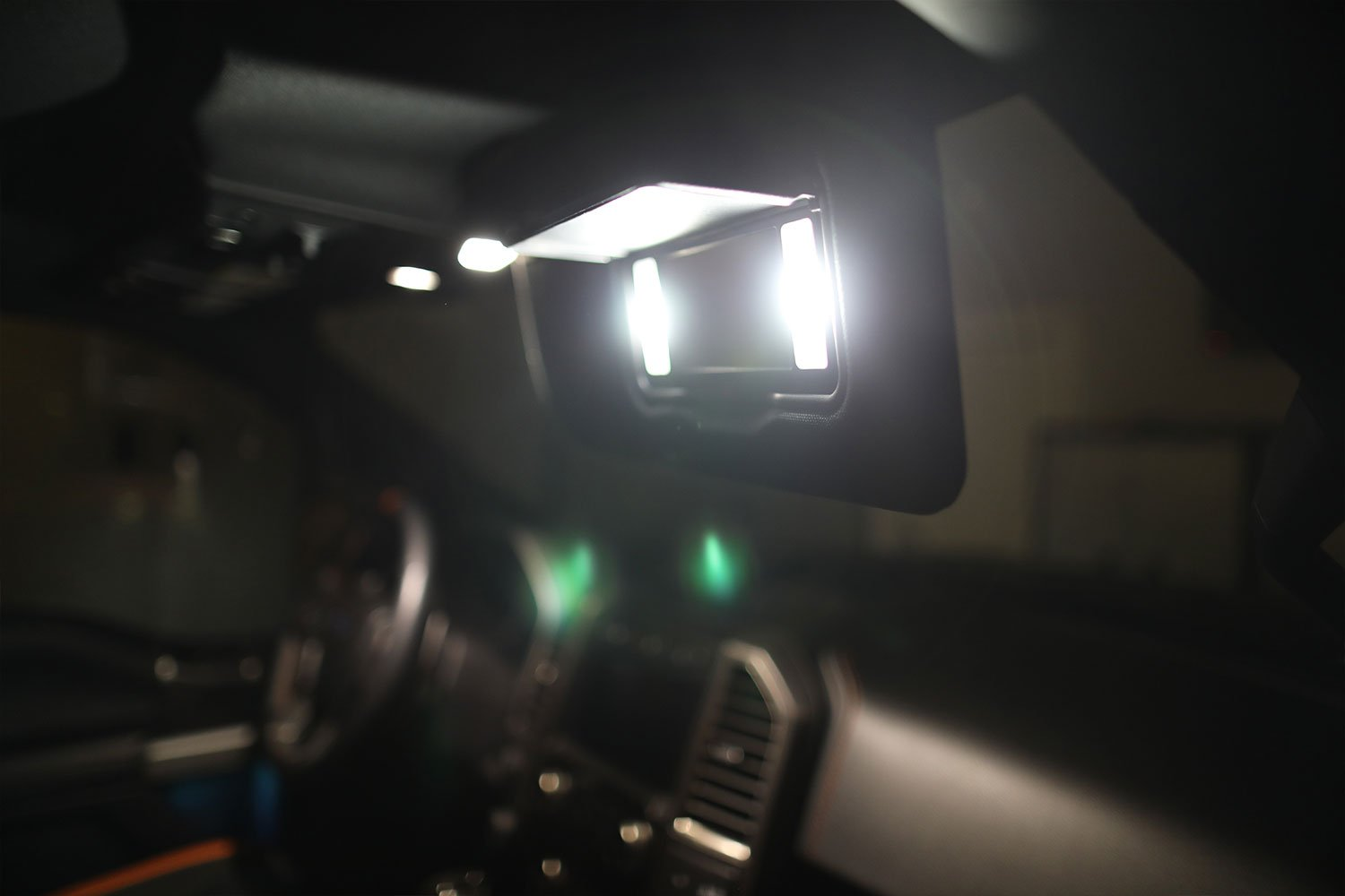 2017 - 2020 F250 Super Duty Front Interior Vanity Mirror LED Light Kit-2017 - 2020 F250 Super Duty-F150LEDs.com