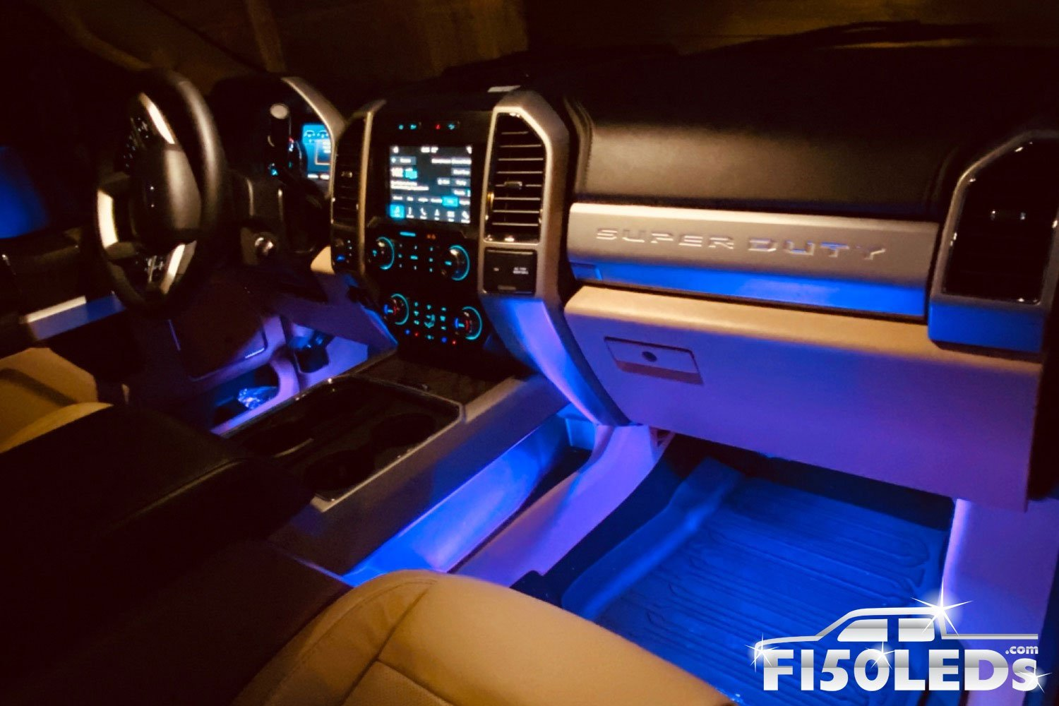 2017 - 2020 F250 Super Duty AMBIENT LED LIGHTING KIT-2017 - 2020 F250 Super Duty-F150LEDs.com
