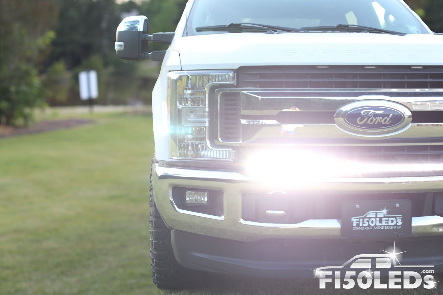 2017 - 2020 F250 Super Duty PALADIN 210W Curved CREE XTE LED Bumper Bar-2017 - 2020 F250 Super Duty-F150LEDs.com