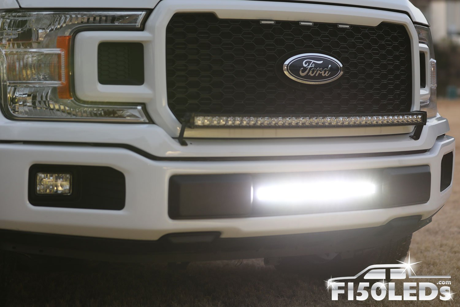 "2018 - 2020 F150 20"" PALADIN 90W Curved Lower Intake LED Bar-2015-18 F150 LEDS-F150LEDs.com"