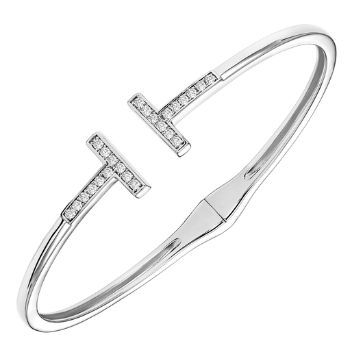 Sterling Silver CZ Bangle - Style #FB1156