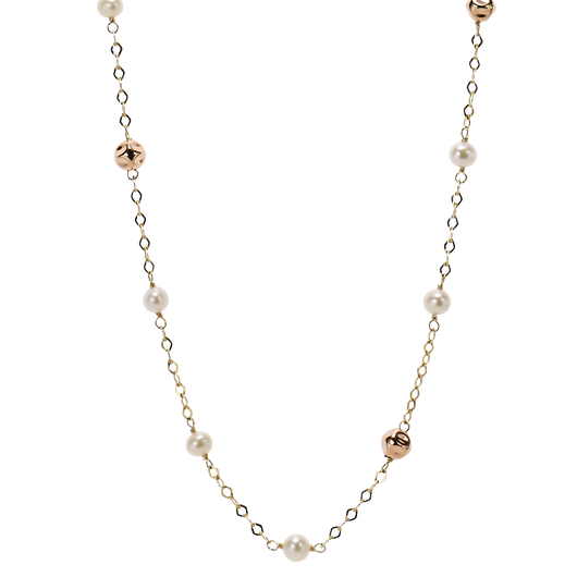 Silver Pearl Necklace - RA0413N01