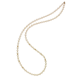 Gold Pearl Necklace - GW080N01