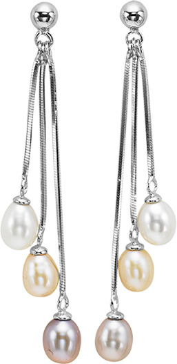 Silver F.W. Pearl Earrings