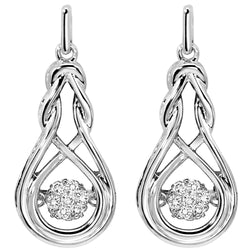 Rhythm of Love Silver Diamond Earrings