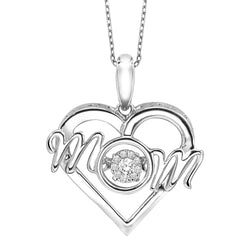 Rhythm of Love Silver Diamond Pendant