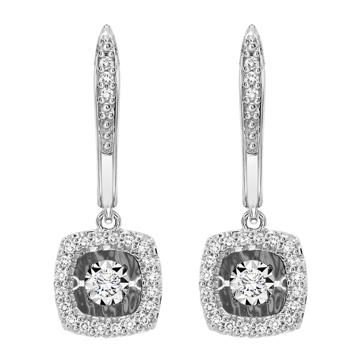 14K Diamond ROL Earrings 1/5 ctw