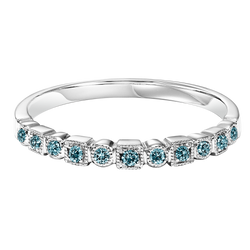 Treated Blue Diamonds Mixable Ring