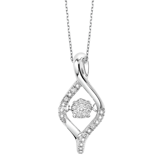 Sterling Silver Diamond ROL Pendant