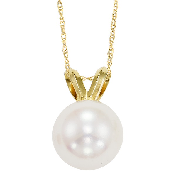 14K yellow gold Akoya Pearl Pendant