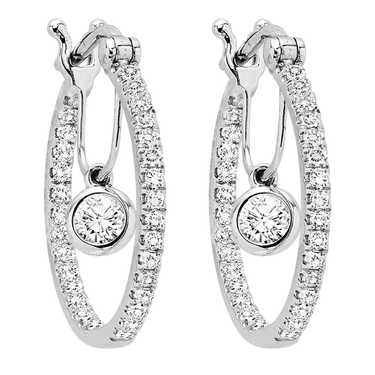 14KW Diamond Earrings