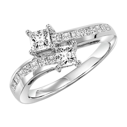 TwoGether 14KW Princess Cut Diamond Ring