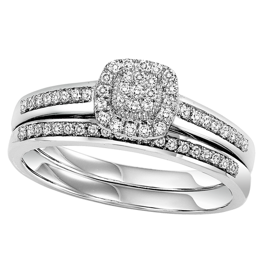14K Diamond Bridal Set 1/4 ctw