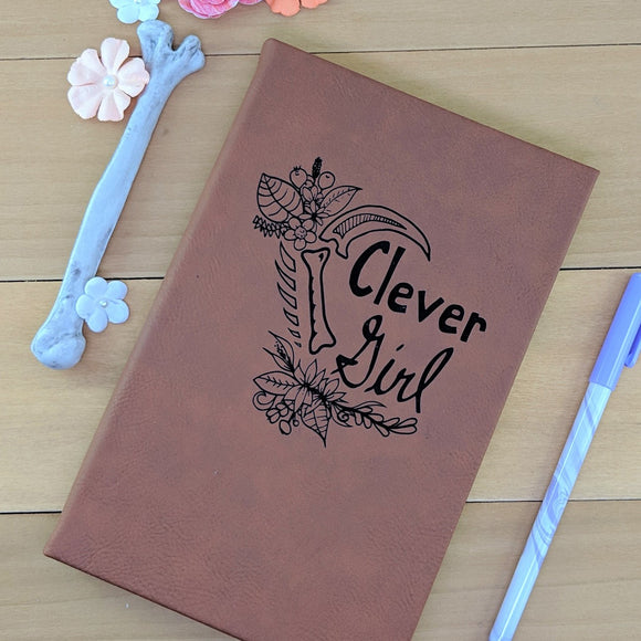 Clever Girl - Vegan Leather Journal, Small