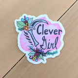 Clever Girl - Vinyl Sticker