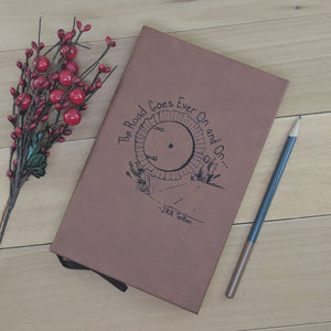 The Road Goes Ever On and On - Vegan Leather Journal, Small