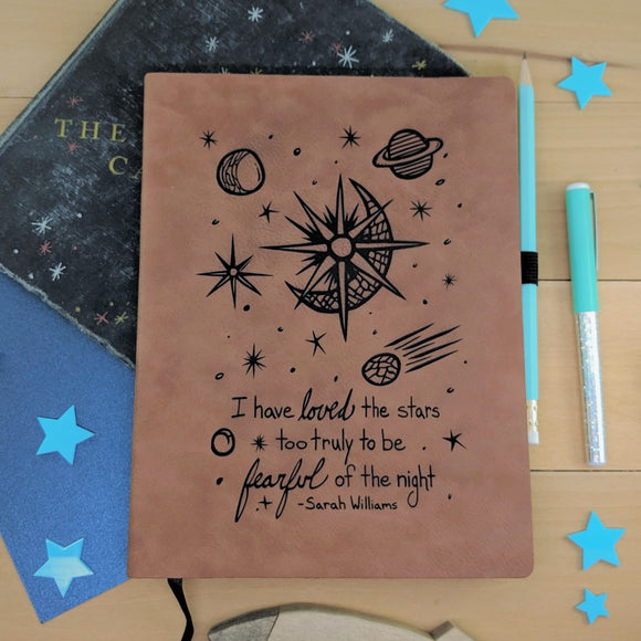 Loved The Stars Truly - Vegan Leather Journal, Large