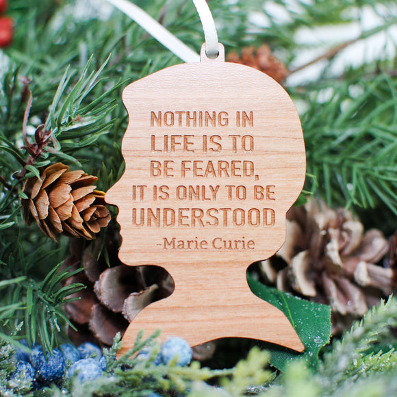 Marie Curie Wood Ornament