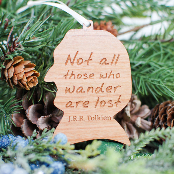 J.R.R. Tolkien Wood Ornament