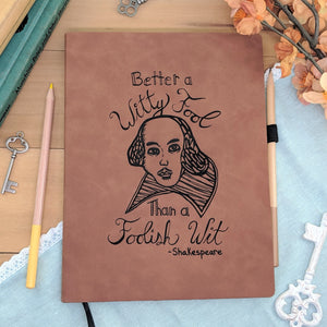 Witty Fool - Vegan Leather Journal, Large