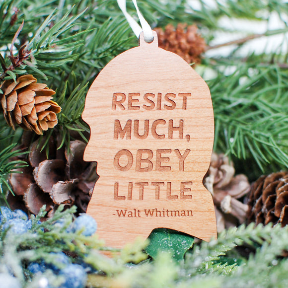 Walt Whitman Wood Ornament