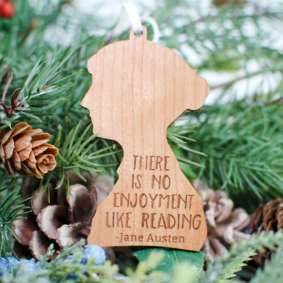 Jane Austen Wood Ornament