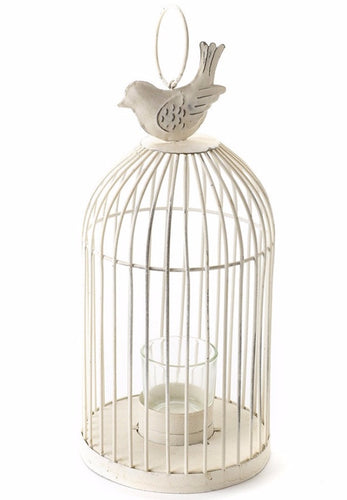 Antique cream birdcage lantern