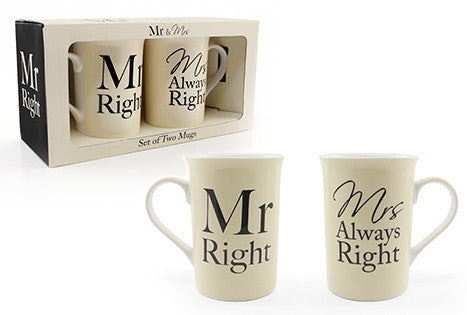 Mr and Mrs mugs