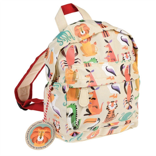 Colourful creatures design children's backpack
