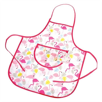 Pink flamingo children's apron