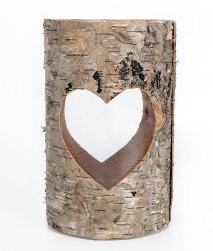 Bark effect candle holder