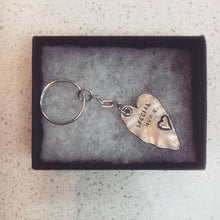 Personalised Pewter Heart Key ring
