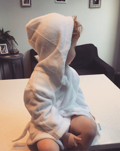 Children's personalised super soft dressing gown