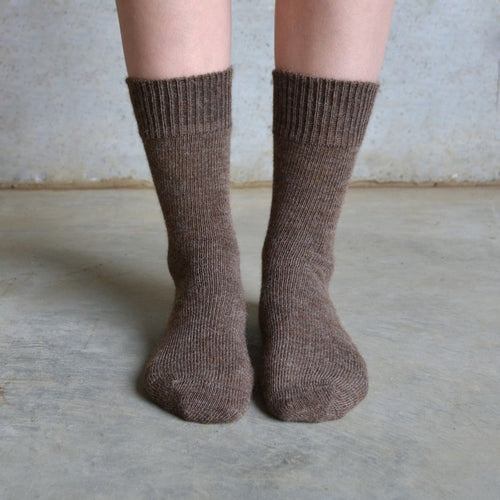 Tom Lane Everyday Alpaca Socks - Brown