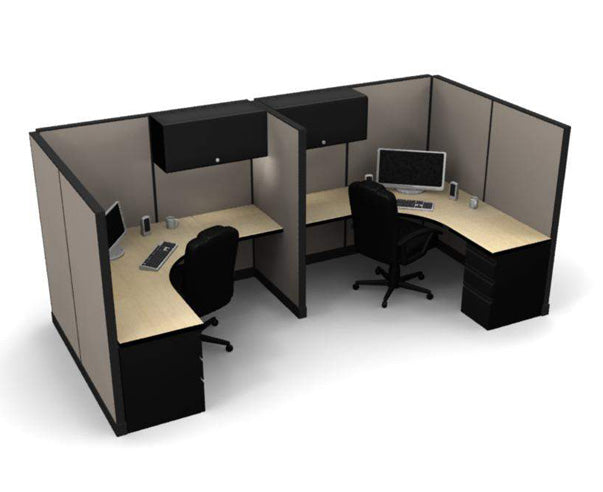 "2 Pack 6x6 Workstations with 65"" Panels - Online Office Furniture"
