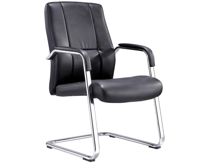 Chrome and Black Side Chair - Online Office Furniture