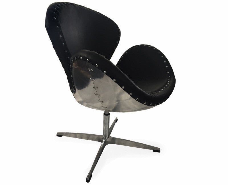 Black Aviator Swivel Chair - Online Office Furniture