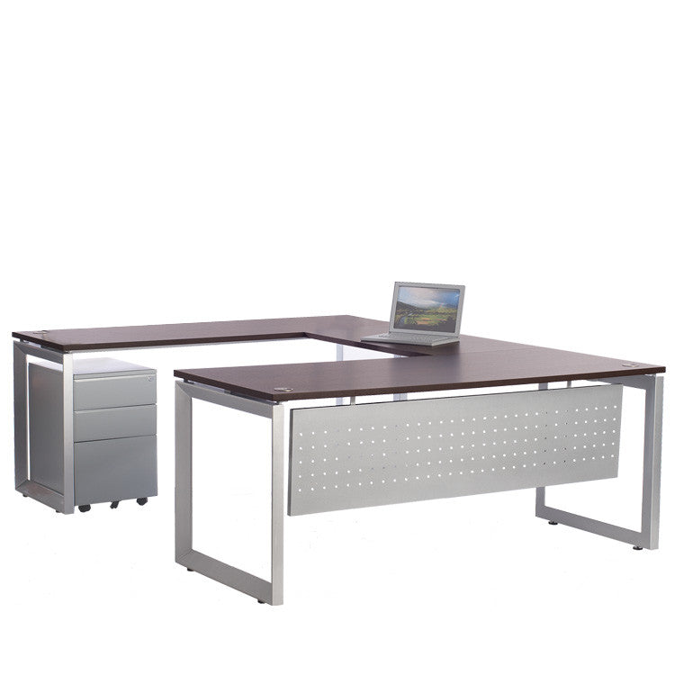Options Desk with Bridge and Return - Online Office Furniture