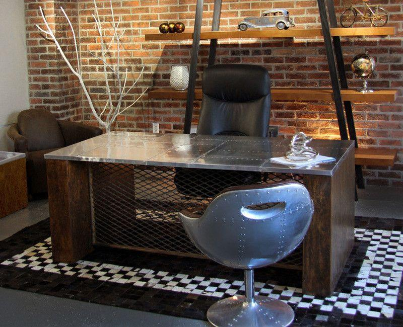 Charmant ... Rustic Vintage Inspired Executive Desk   Online Office Furniture
