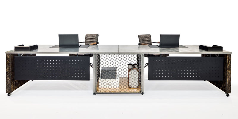Industrial 2 Pack Desks with Storage - Online Office Furniture